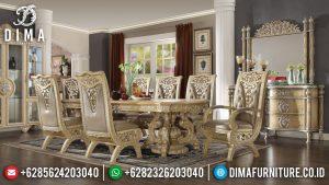 Jual Meja Makan Mewah Jepara Luxury Carving Elegant Empire Style Terbaru MM-0755