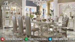 Luxury Set Meja Makan Mewah Jepara Harga Terjangkau Model Elegant MM-0757