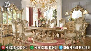 Meja Makan Mewah Rossalia Luxury Classic New Design Ukiran Jepara Asli MM-0763