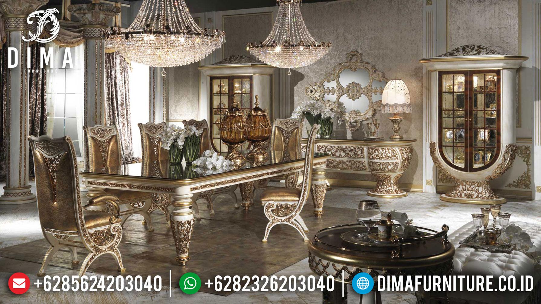 Model Meja Makan Mewah Luxury Classic Jepara Majestic Empire Style Mm-0758