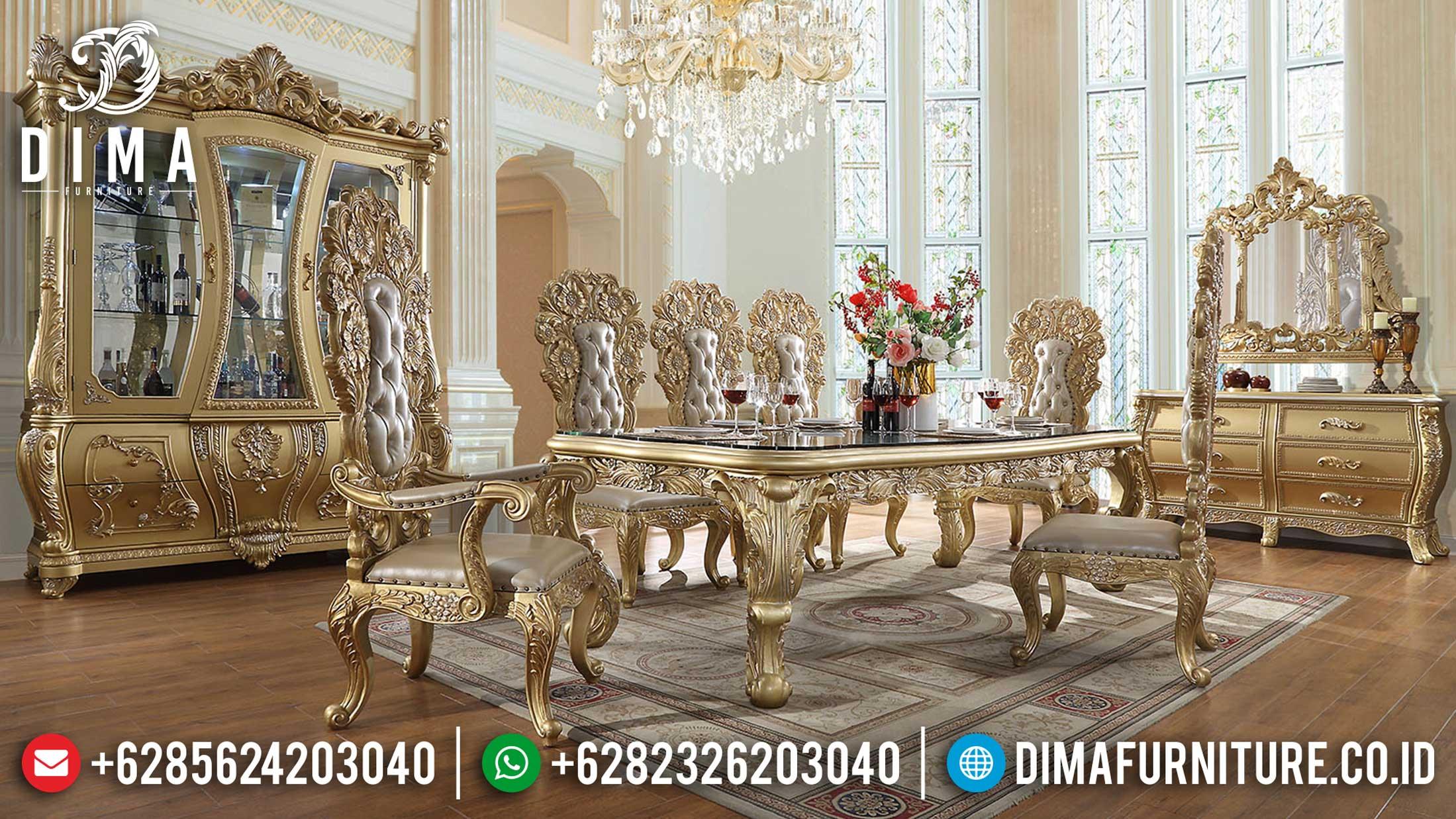 New Meja Makan Mewah Jepara Classic Luxury Carving Furniture Jepara Mm-0749