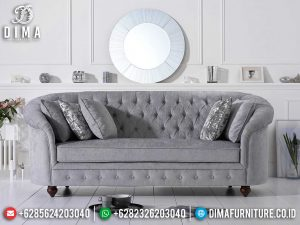 Sofa Tamu Minimalis 3 Dudukan Great Fabric Beludru New Year Update MM-0745