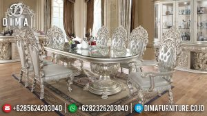 Termewah Meja Makan Mewah Luxury Classic Mebel Jepara Elegant Style MM-0765