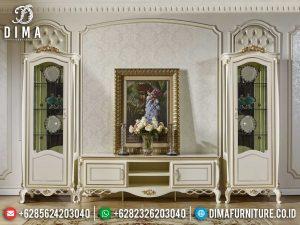 Bufet TV Mewah Jepara Ukiran Classic Luxury Living Room Inspiring Design MM-0774