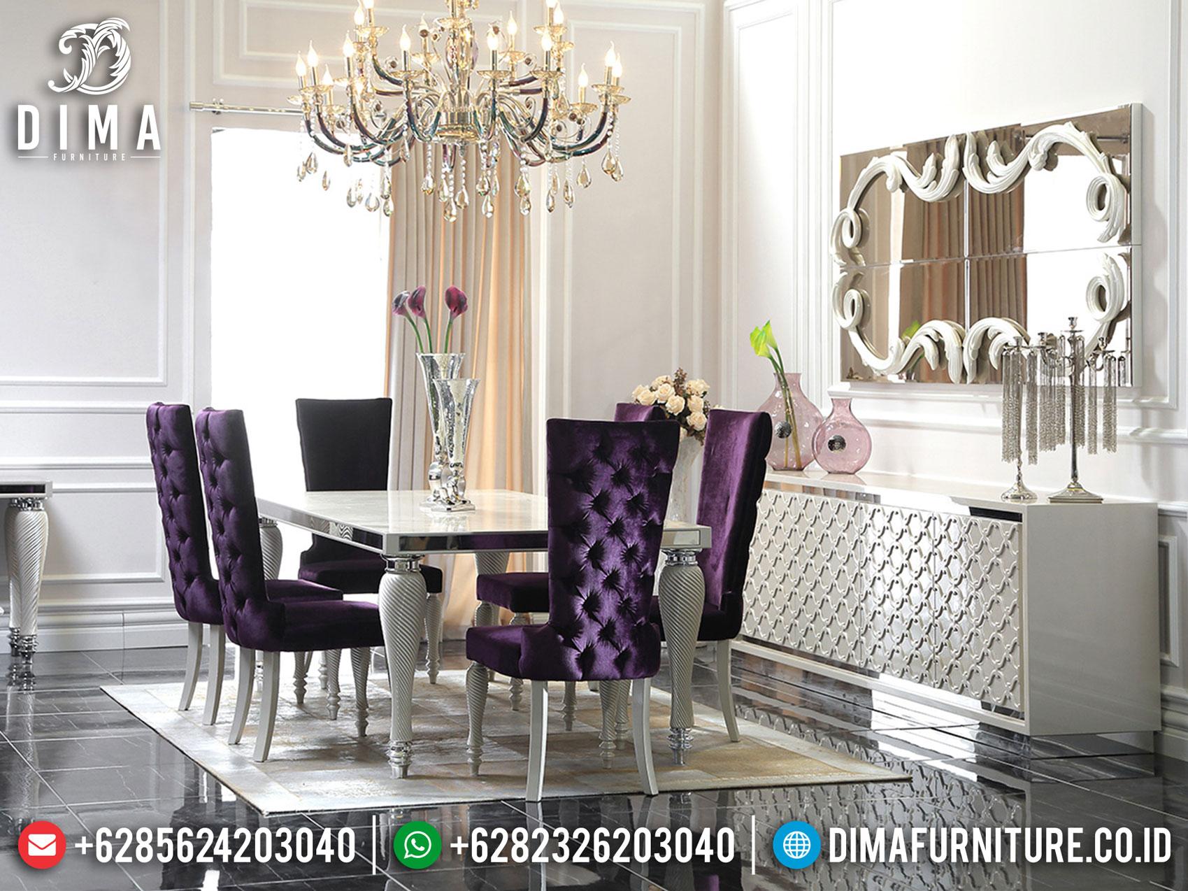Buy Now Meja Makan Minimalis Mewah Luxury Silver Color Design Elegant MM-0818