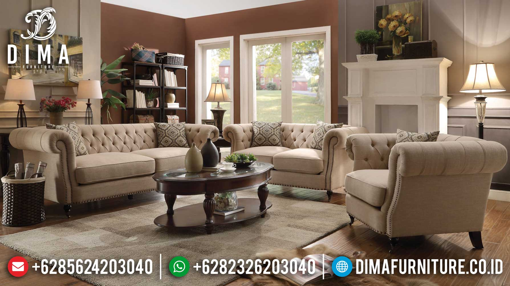 Buy Now Sofa Tamu Minimalis Retro Vintage Design Inspiring Living Room Mm-0770