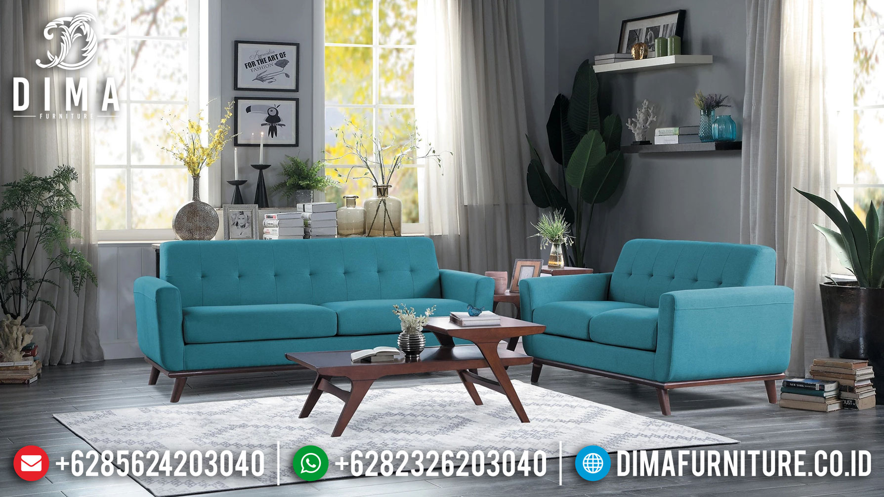 Classic Desain Sofa Tamu Minimalis New Scandinavian Style Elegant Furniture Jepara Mm-0771