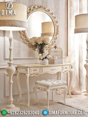 Classic Style Meja Rias Minimalis Ukir Jepara Luxury White Duco Great Quality MM-0792
