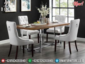 Elegant Style Meja Makan Minimalis Stainless Steel Luxury Modern MM-0821