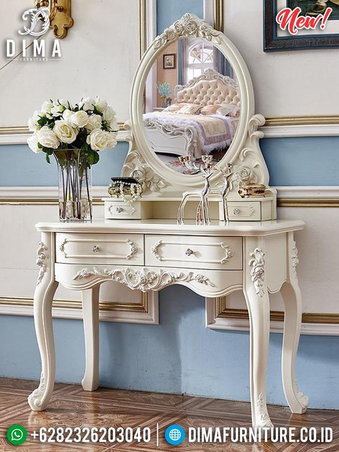Gorgeous Meja Rias Minimalis Ukir Luxury Classic Great Quality Jepara MM-0800