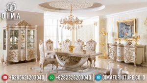 Iris Meja Makan Mewah Jepara New Luxury Classic Ukiran Khas Kerajaan Romawi MM-0783