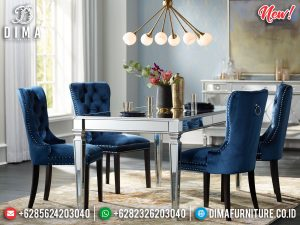 Jual Meja Makan Minimalis Modern Glasses Design Elegant Dining Room Set MM-0823