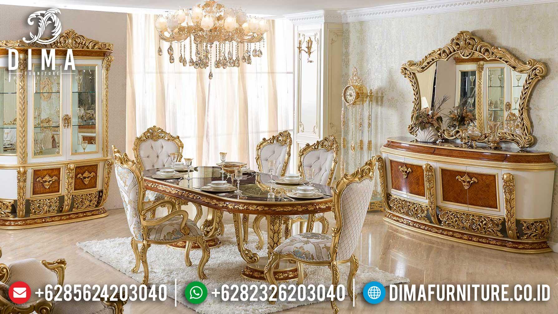 Kursi Meja Makan Mewah Luxury Carving Classic Royals Superior Design Best Seller MM-0786