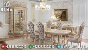 Luxury Set Meja Makan Mewah Ukiran Jepara New 2021 Design Hand Made MM-0787