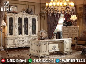 Meja Direktur Mewah Ukir Jepara Luxury Classic High Quality Product MM-0805
