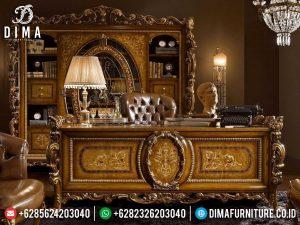 Meja Kantor Direktur Mewah Luxury Carving Mebel Jepara Release MM-0808