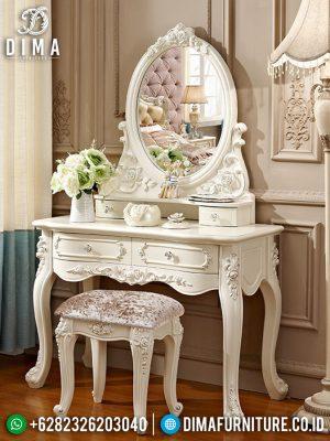 Meja Rias Minimalis Diana Luxury Carving Great Vanity Room Design MM-0795