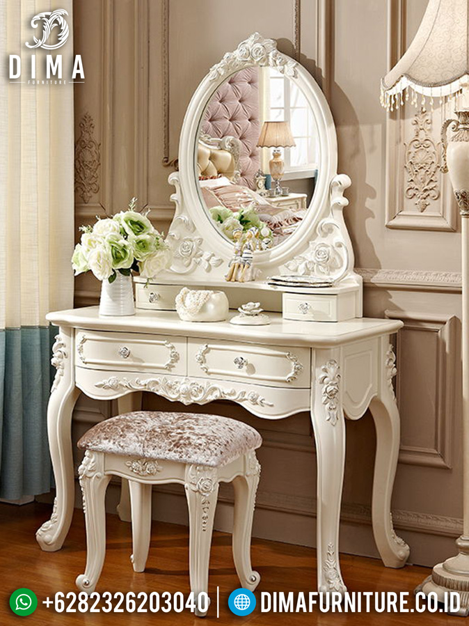 Meja Rias Minimalis Diana Luxury Carving Great Vanity Room Design Mm-0795