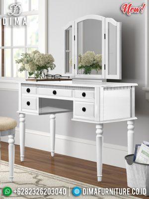 Meja Rias Minimalis Kaca Lipat Putih Duco Glossy Best Quality MM-0799