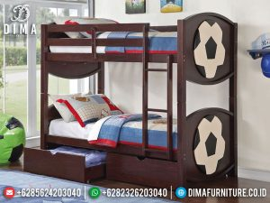 New Kamar Set Anak Tingkat Jati Natural Playful Best Seller Mebel Jepara MM-0830