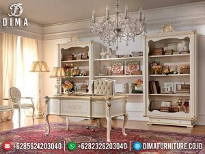 New Meja Kantor Direktur Mewah Luxury Marquetry Combination Jepara MM-0814