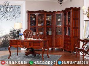 Order Now Meja Kantor Direktur Jati Natural Classic Minimalis Jepara MM-0815
