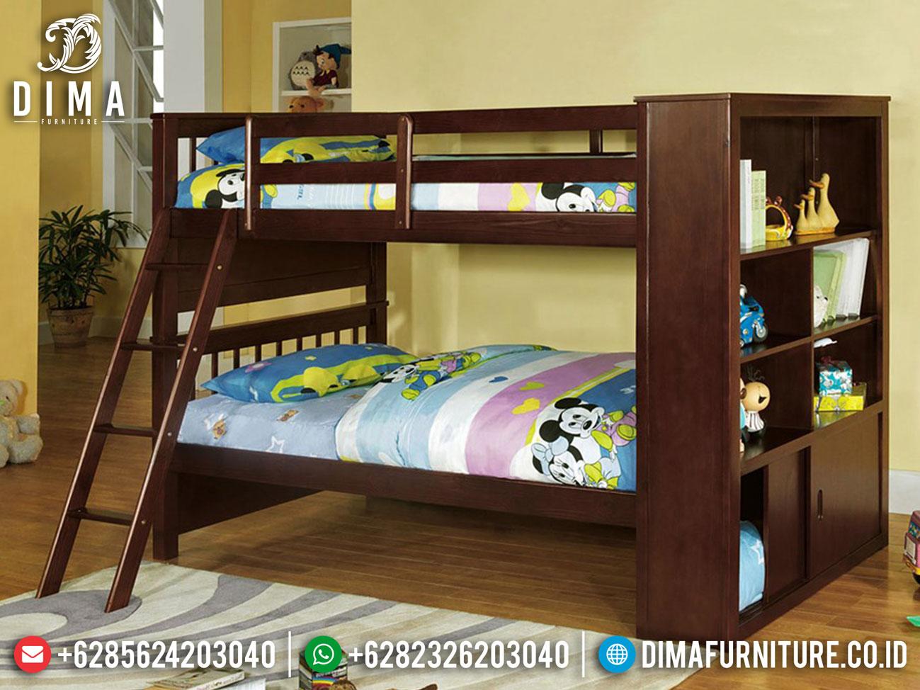 Tempat Tidur Anak Tingkat Jati Natural Klasik High Quality Jepara MM-0833
