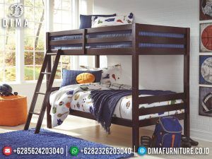Tempat Tidur Anak Tingkat Zetana Natural Jati Perhutani Furniture Jepara MM-0834
