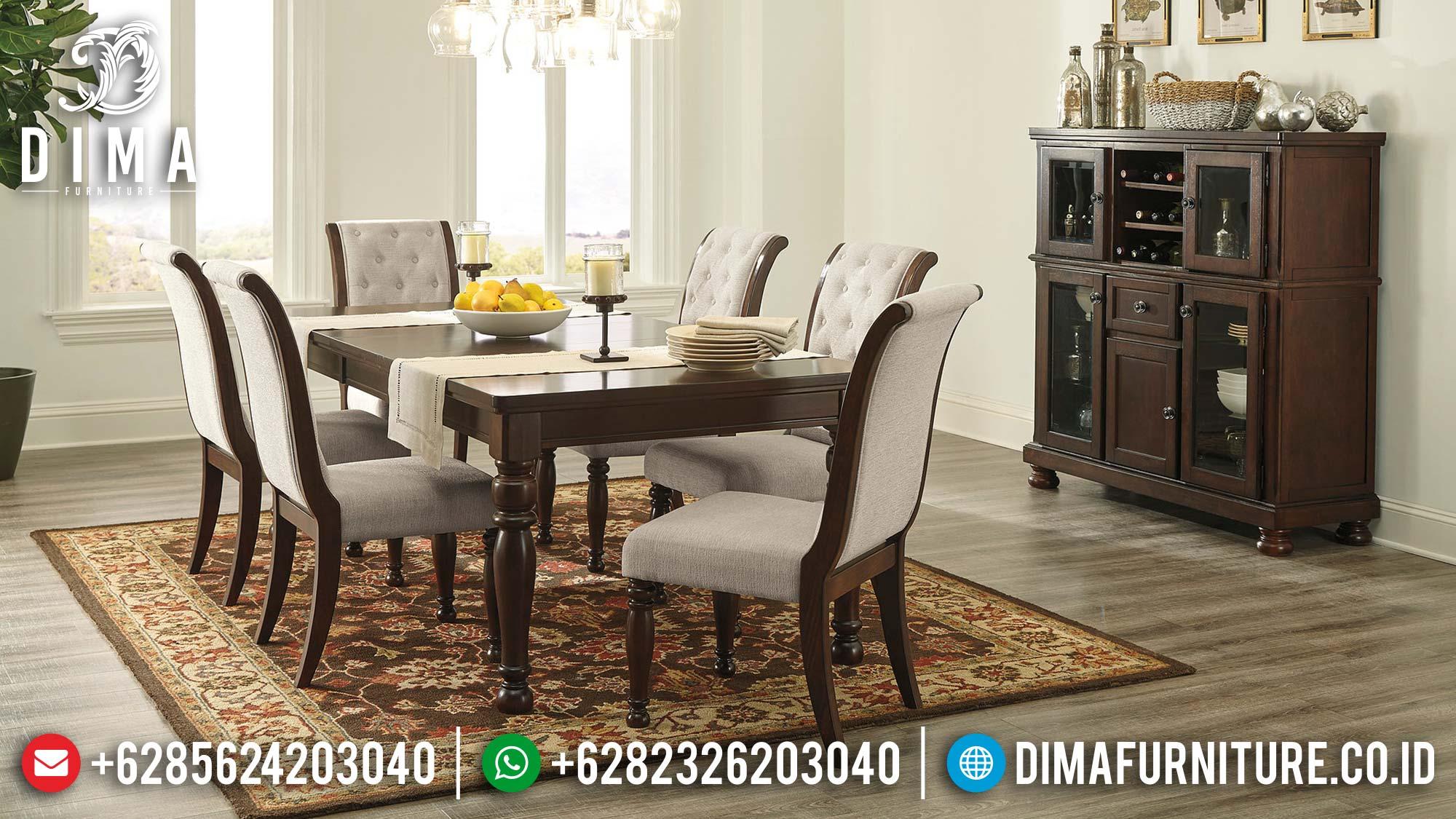 Best Day Sale Meja Makan Minimalis Jati Natural Klasik Terbaru Mm-0857