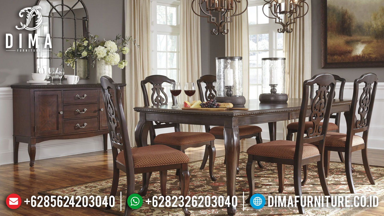 Epic Meja Makan Minimalis Jepara Klasik Elegant Style Furniture Jepara Terkini Mm-0853