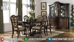 Famous Item Meja Makan Jati Klasik Luxury Best Quality Solid Wood MM-0862