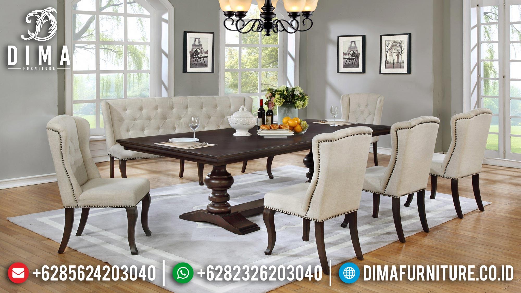 Get Now Meja Makan Minimalis Jati Classic Style Natural Salak Brown Mm-0863