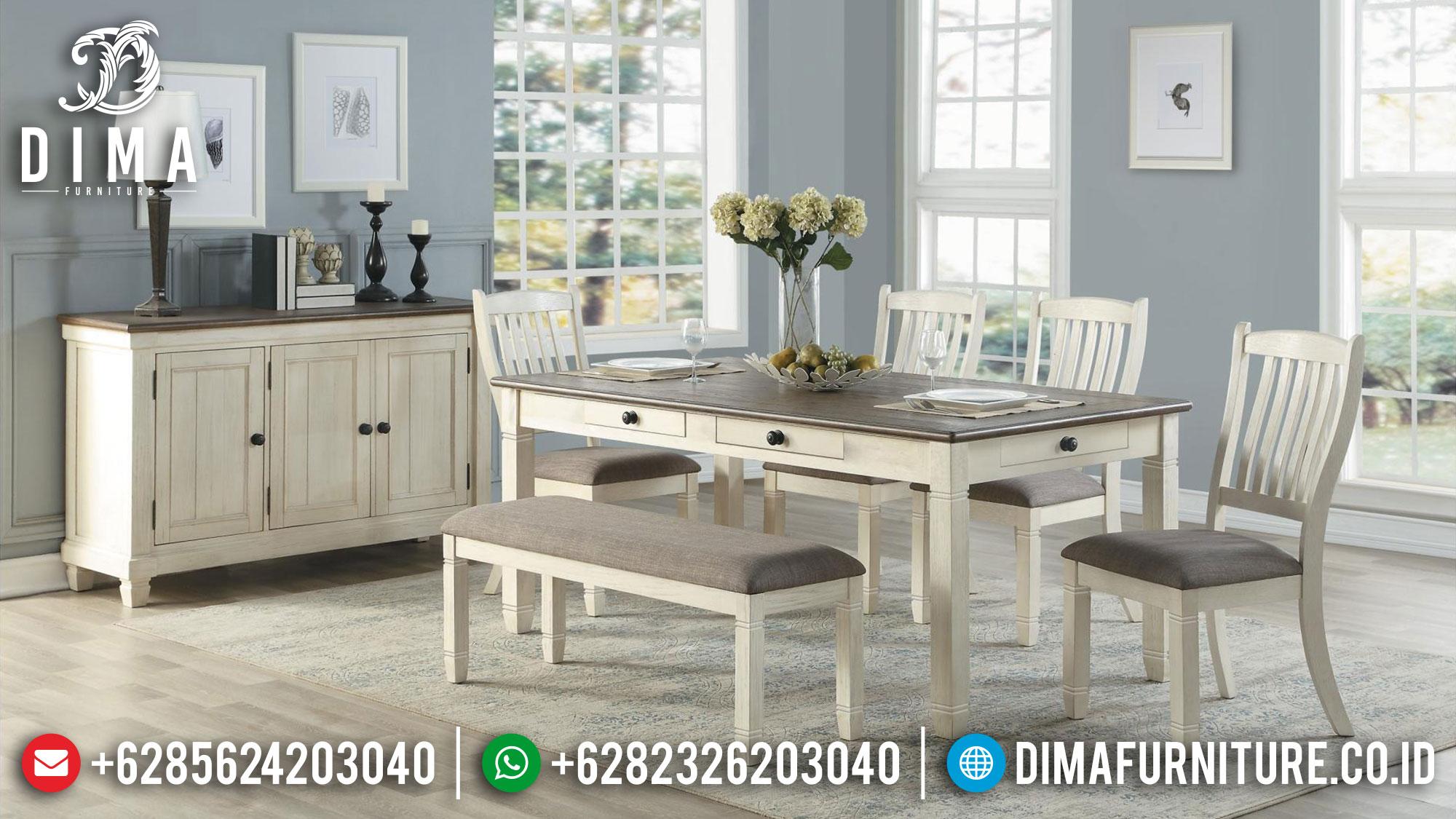 Jual Meja Makan Minimalis Retro Vintage Classic New Design Inspiring MM-0868