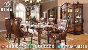 Meja Makan Jati Jepara Natural Klasik Salak Brown Best Seller MM-0872