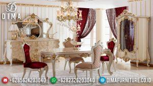 Meja Makan Mewah Ukiran Jepara Luxury Classic New Duco Top Coat Combination MM-0873