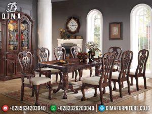 Meja Makan Minimalis Jati Luxury Natural Classic Mebel Jepara Terbaru MM-0841