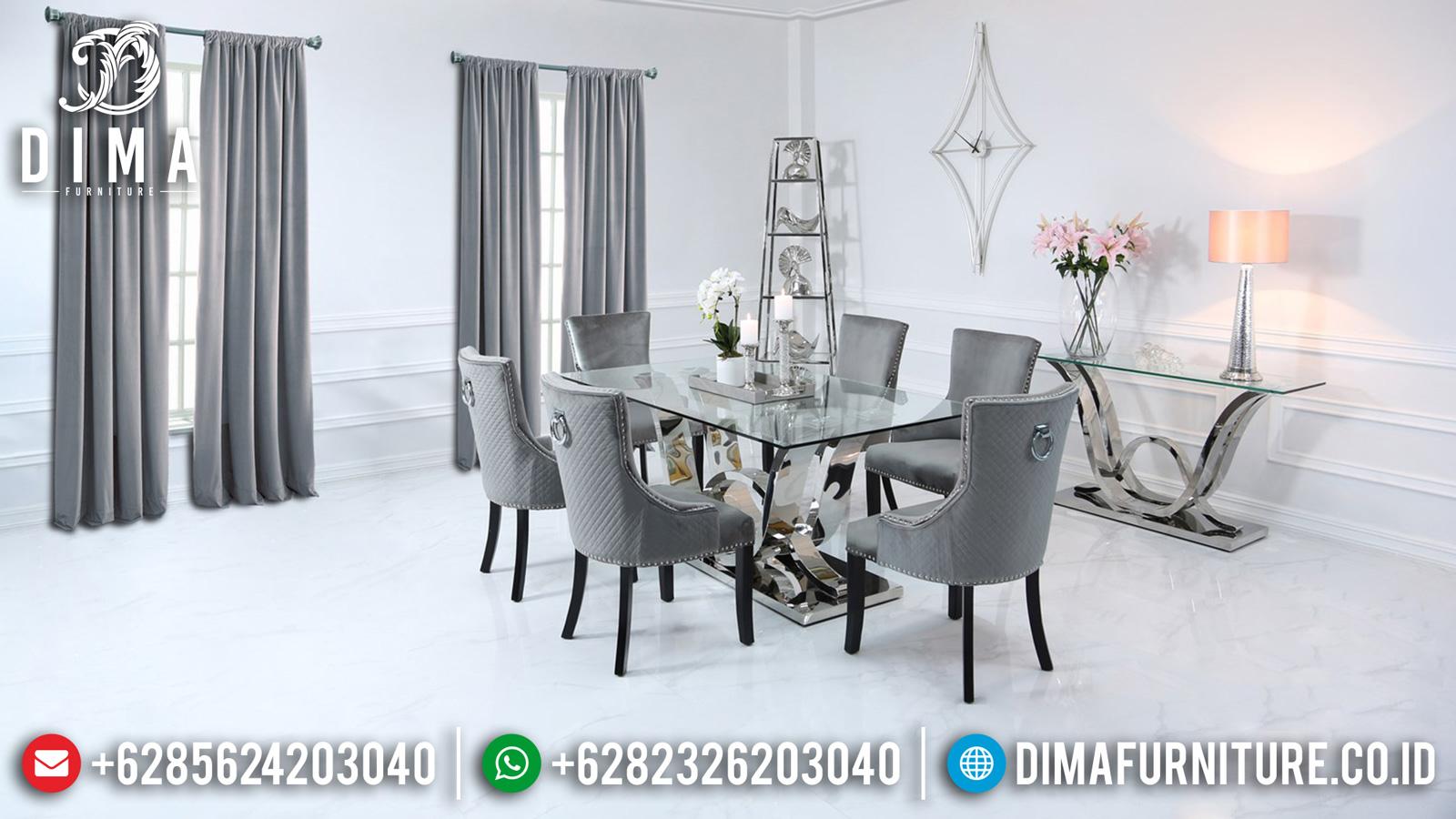 New Set Meja Makan Minimalis Kursi 6 Best Sale Valentine Edition MM-0866