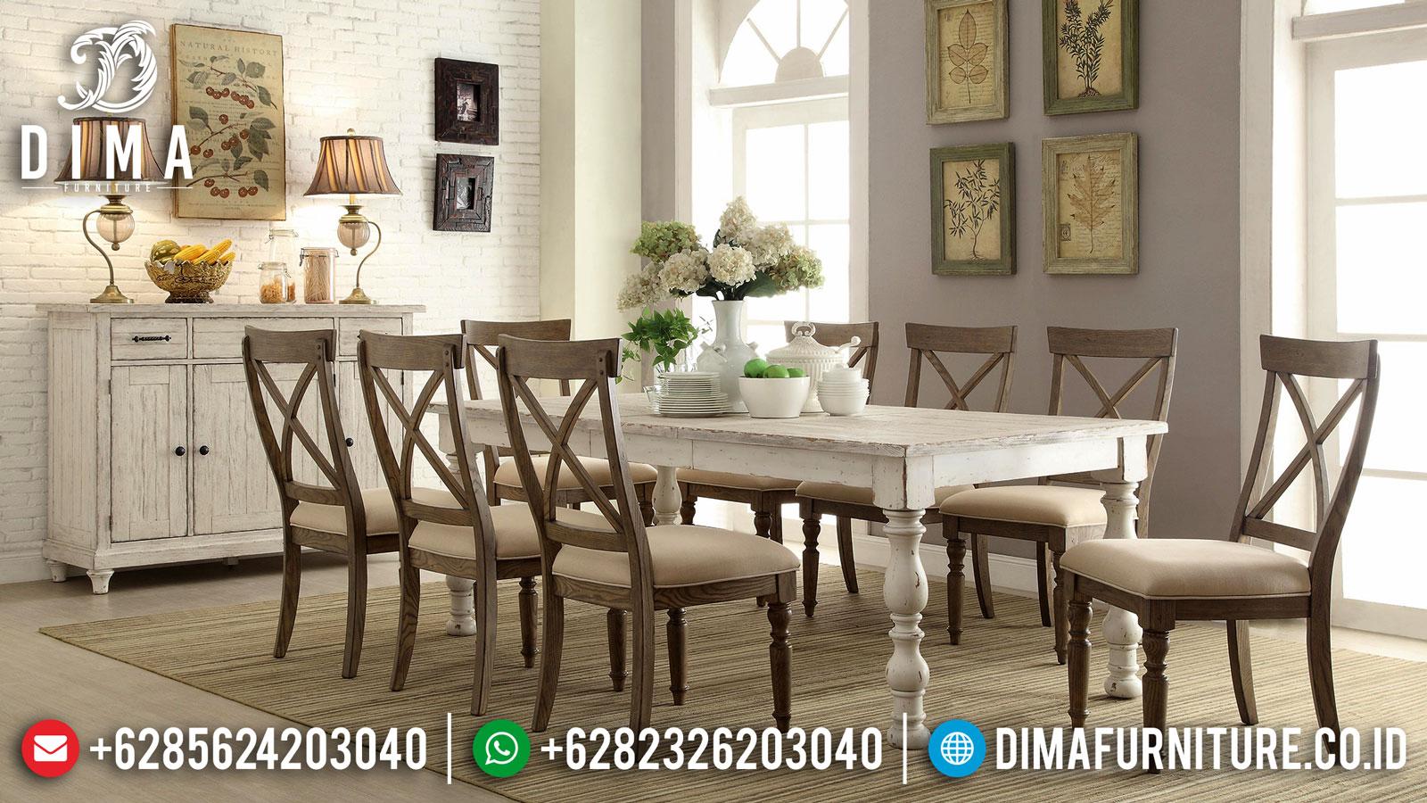 Order Now Meja Makan Minimalis Jati Natural Classic Rustic New Retro Style Mm-0854