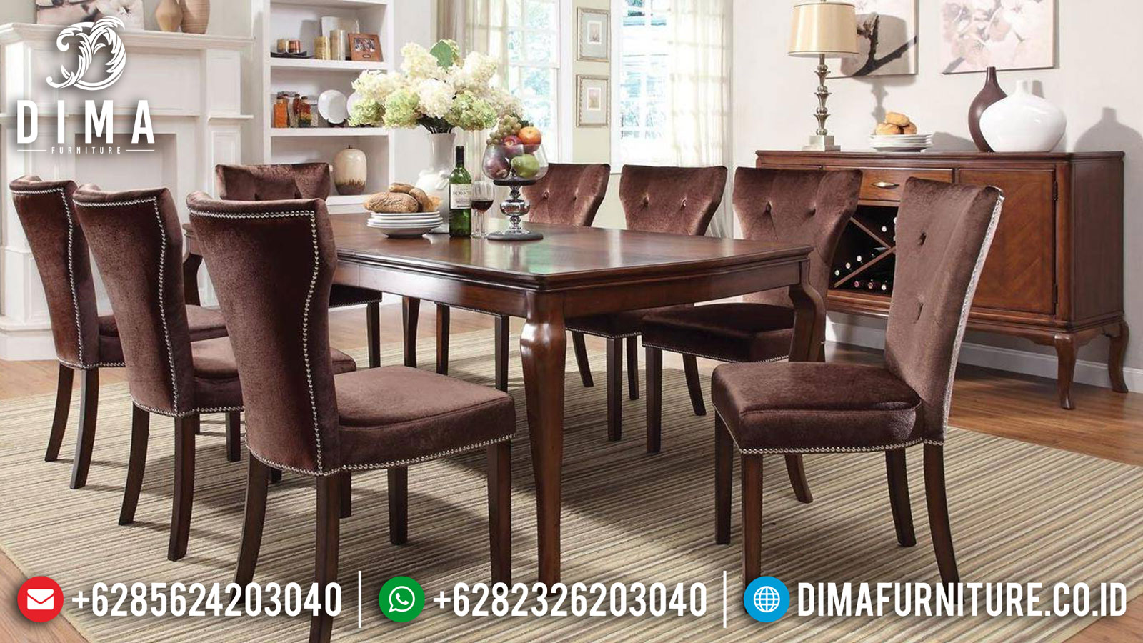 Set Meja Makan Minimalis 6 Kursi Dining Room Sets Luxury Inspiring Mm-0856