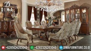 Adorable Meja Makan Mewah Jepara Luxury Carving Palace Superior Style MM-1002