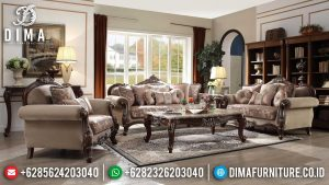Adorable Sofa Tamu Kayu Jati Perhutani Luxury Classic Carving Jepara MM-0941