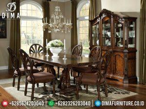 Awesome Desain Meja Makan Klasik Jepara Furniture Luxury Set Terbaru MM-1015