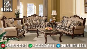 Best Seller Sofa Tamu Mewah Jati Natural Classic Luxury Mebel Jepara MM-0919
