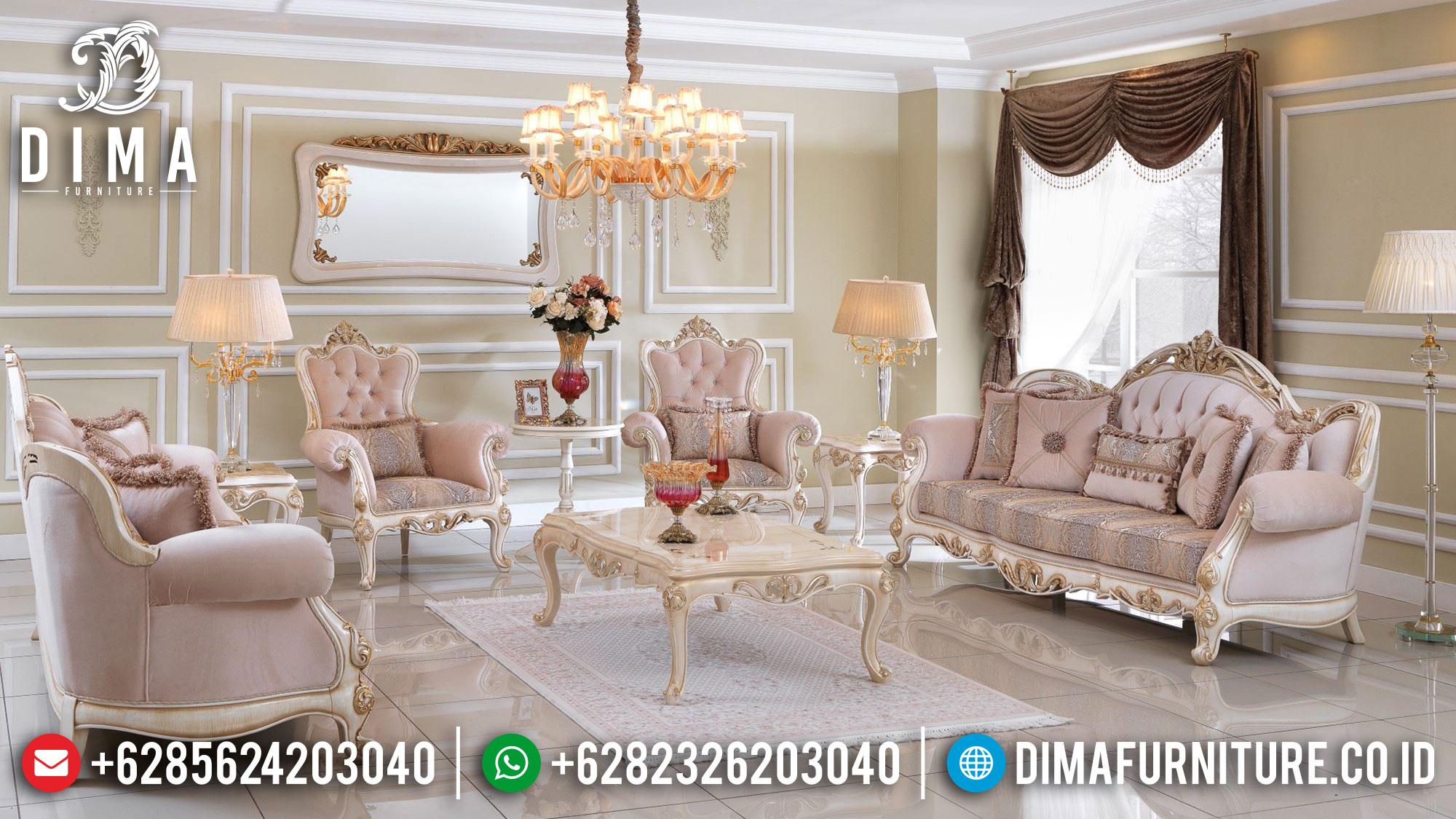 Davino Set Sofa Tamu Jepara Terbaru Model Ukiran Mewah Classic Luxury Mm-0987