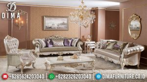 Desain Luxury Sofa Tamu Mewah Terbaru Excellent Color Top Coat Glossy MM-0917