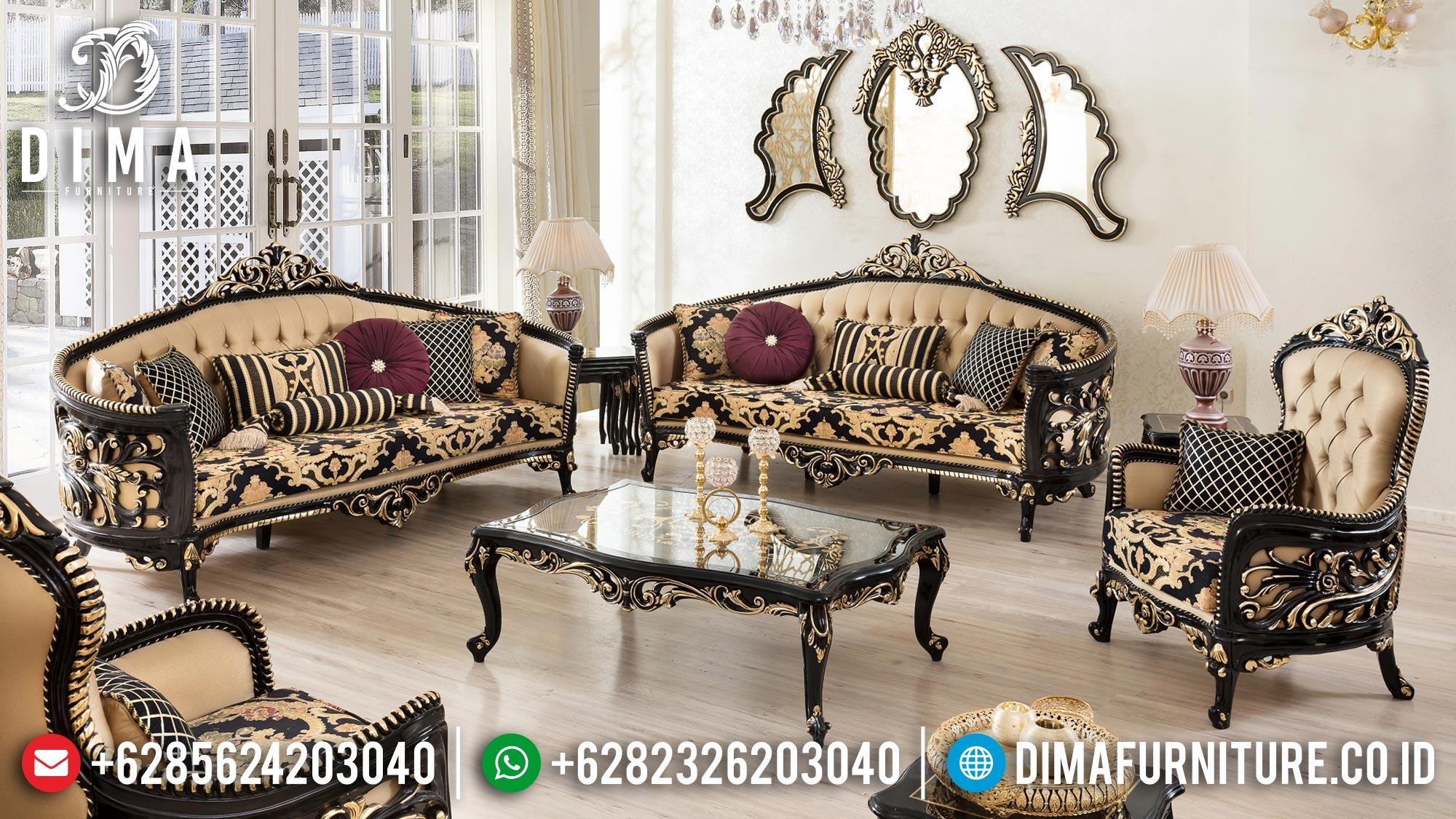 Desain Sofa Ruang Tamu Mewah Luxury Duco Glossy Elegant Style Furniture Jepara Mm-0961