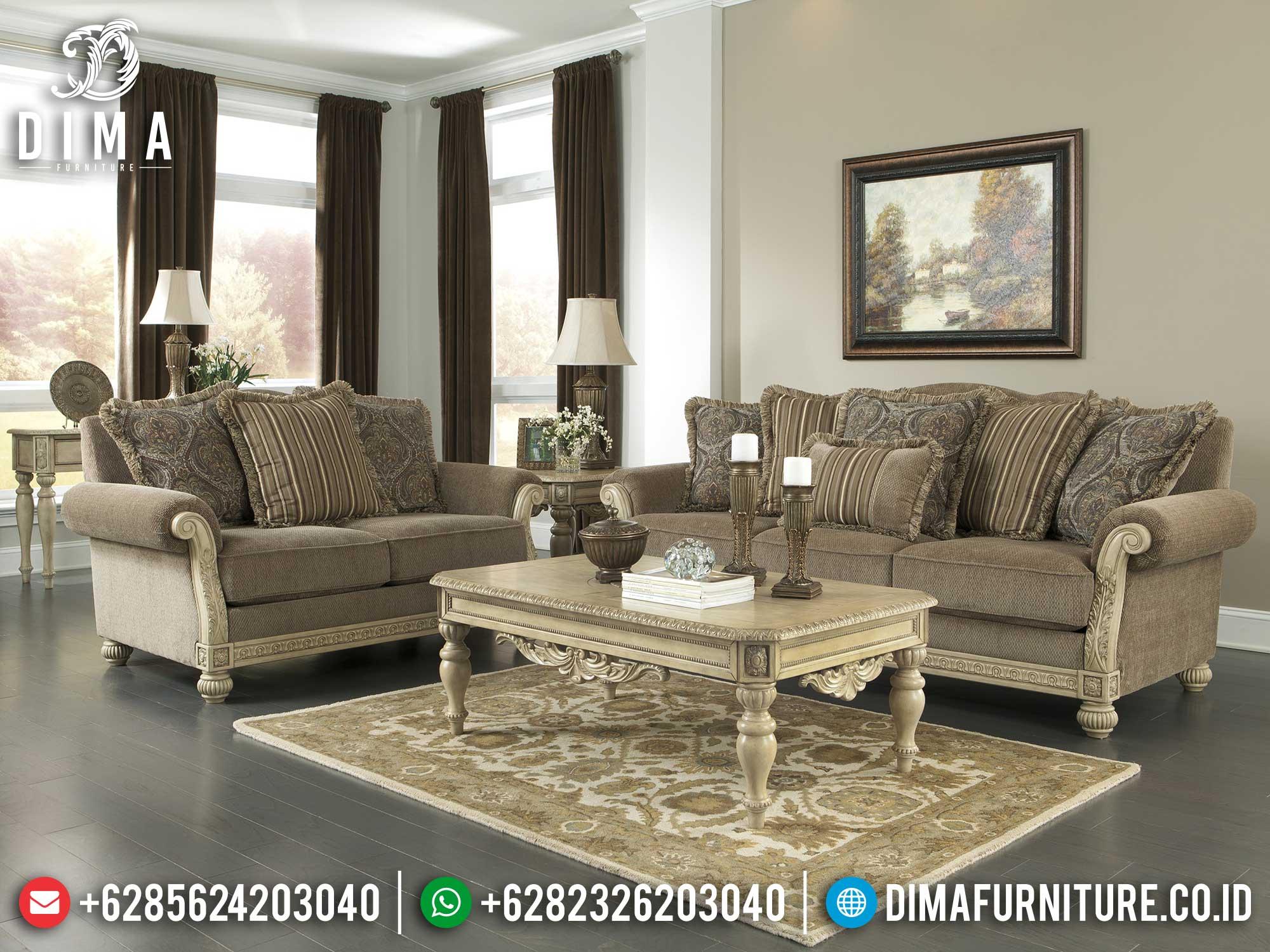 Desain Sofa Tamu Mewah Jepara Luxurious New Living Room Set Mm-0900