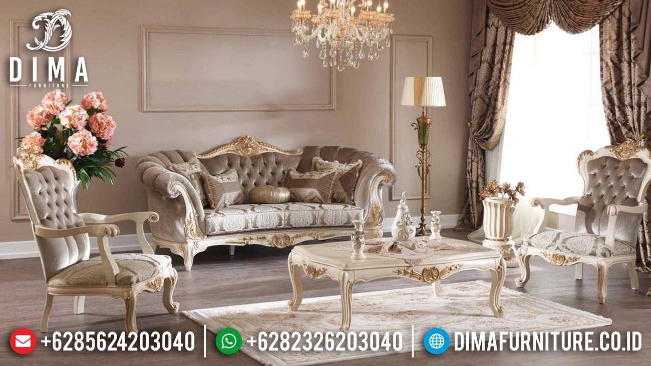 Desain Sofa Tamu Mewah Jepara Luxury Carving Baroque Palace Style Mm-0988