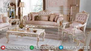 Desain Sofa Tamu Mewah, Kursi Sofa Ukiran Ruang Tamu, Meja Tamu Ukir Jepara New Luxury MM-0966