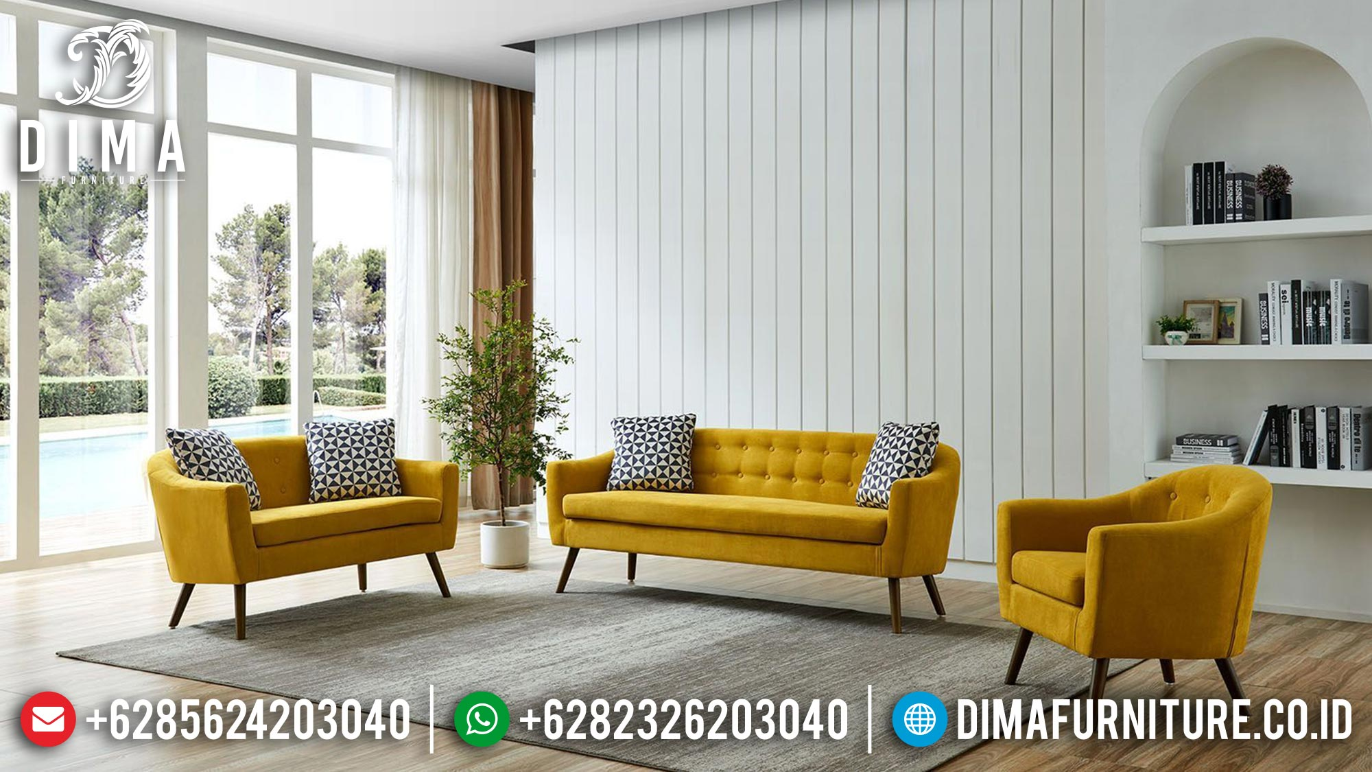 Desain Sofa Tamu Minimalis Classic Vintage Retro Best Seller Now Mm-0972